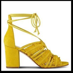 Nine West Genie block heel sandals ankle wrap
